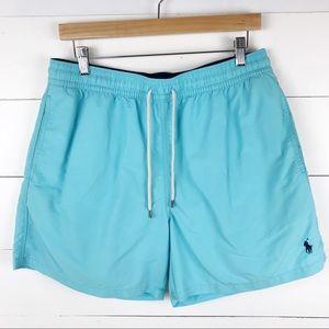 Polo Ralph Lauren L Swim Trunks Shorts Light Blue